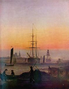 By the townwall - Caspar David Friedrich - WikiPaintings.org