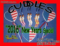 Order Now before the weekend is over - at www.CuddleSpoons.com OR call us at (630) 673-6498