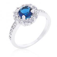 LYRA Prsten s modrým Zirkonem R08347R-C30 | Lyra-sperky.cz
