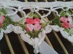 barado Crochet Lace Edging, Crochet Quilt, Crochet Borders, Crochet Home, Crochet Trim, Crochet Gifts, Diy Crochet, Crochet Doilies, Crochet Flowers