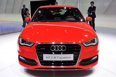 2013 Audi A3 - not sure I like the lower bumper or angry headlights.
