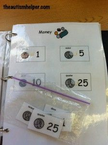Match Coins {work on money skills with students who are lower functioning}