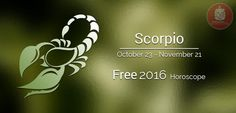 Year 2016 Horoscope predictions for sunsign Scorpio All About Scorpio, Astrology Predictions, 23 November, Year 2016, Horoscope, Horoscopes