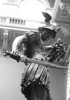 """Perseus and Medusa Photo by AubreyAlexanderHill "" Roman Sculpture, Art Sculpture, Perseus And Medusa, Greek Mythology Tattoos, Greek Statues, Angel Statues, Statue Tattoo, Bild Tattoos, Poses References"
