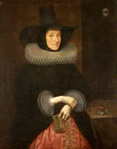 Dame Pigot in a capotain hat by Gilbert Jackson (c.1595-1600 - after 1648, British Artist)