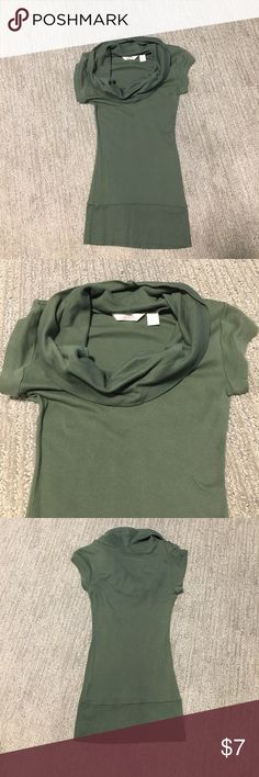 Cowl neck top Dark green cowl neck top, excellent condition, Derek heart brand Derek Heart Tops Blouses