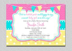 Tickled Pink Baby Shower Invitation   Pink by TheTrendyButterfly, $15.00