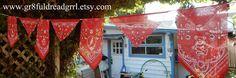 Bandana Prayer Flags Grateful Dead SYF Bears 13 by gr8fuldreadgrrl