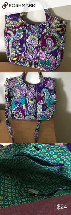 Vera Bradley Tote in Heather w/ Crossbody Strap. Vera Bradley tote in Heather pattern has two upright handles and a removable adjustable crossbody strap. 15L x 10H x 4D. This authentic Vera is in great condition only used a handful of times, no tears frays or stains. Feel free to ask questions. No trades. Vera Bradley Bags Totes