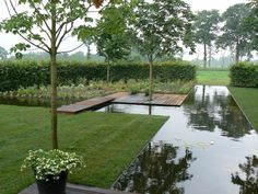 MG water feature Pool Landscape Design, Pond Design, Modern Garden Design, Backyard Pool Designs, Pool Landscaping, Green Architecture, Landscape Architecture, Natural Swimming Pools, Natural Pond