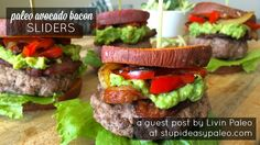 Paleo Avocado Bacon Sliders | stupideasypaleo.com*** yum! We didn't use bell peppers