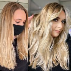 We love curtain bangs to add a little bounce to your face frame. Trimming these curtain bangs around your face gives your hair some beautiful movement and easy styling.Here is our second beautiful model from our look & learn balayage class 🤩Make up by @glamby_eloUsed all @trussprofessional to create this beautiful blonde 🥰 Balayage Highlights, Balayage Hair, Balayage Before And After, Balayage Technique, Bright Blonde, Curtain Bangs, Face Framing, Hair Painting, Beautiful Models
