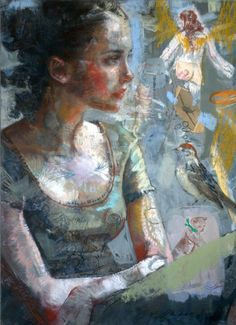 figurative, famous artists, modern, Charles Dwyer, lithograph, stiching, painting, oil original