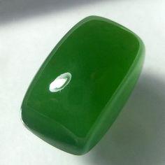 18.3 Carat Natural Green Serpentine 18.7x12x10 mm Cushion Shape Cabochon #Unbranded