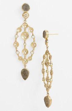 A twist on the chandelier earring we love