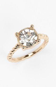 Shiny! Stone Midi Ring