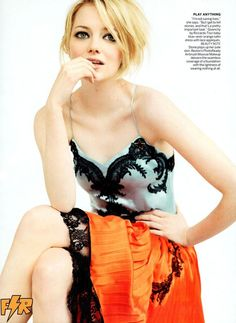 Love everything about this dress that Emma Stone was wearing in this shot from Vogue magazine