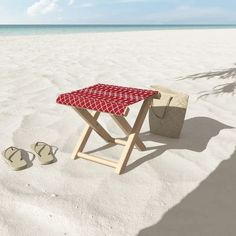 """It's time to kick back. Our folding stools offer a lightweight, yet style-forward way to get your lounge on. There's no better way to experience the outdoors than with your feet kicked back and a cold drink in hand, add in your unique sense of style and you truly can have it all. The woven polyester top is spill and splash resistant so you can take and use anywhere you feel like lounging.13.5"""" W x 12"""" H x 14"""" DSolid wood frameCollapsibleDurable, woven polyester topSpill and splash resistan"""