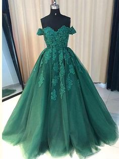 Off Shoulder Emerald Green Lace A line Long Custom Evening Prom Dresses Green Evening Dress, Evening Dress A-Line, Custom Evening Dress, Emerald Prom Dress, Prom Dress Lace Prom Dresses 2019 Prom Dresses Long With Sleeves, A Line Prom Dresses, Prom Dresses Online, Cheap Prom Dresses, Prom Party Dresses, Quinceanera Dresses, Occasion Dresses, Sexy Dresses, Beautiful Dresses