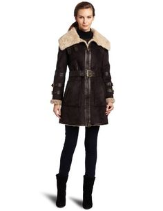 Hawke & Co Women`s Faux Fur Shearling Coat $170.00