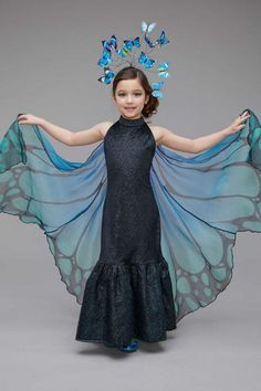 """Shop Chasing Fireflies for our Blue Butterfly Costume for Girls. Browse our online catalog for the best in unique children's costumes, clothing and more."" Source by abrajnik for girls Butterfly Halloween Costume, Halloween Costumes For Girls, Halloween Kostüm, Girl Costumes, Costumes For Women, Animal Costumes For Kids, Costume For Kids, Children Costumes, Costume Papillon"