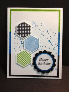 A Six-Sided Sampler Masculine Birthday Stampin' Up! Rubber Stamping Handmade Cards Birthday Cards