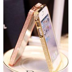 Luxury Diamond Reinstone Metallrahmen Handyhülle Case Cover für Iphone