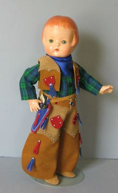 """1930's all composition EFFANBEE """"Patsy Ann"""" Cowboy 