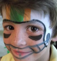 Football Player by  Amazing Face Painting by Linda