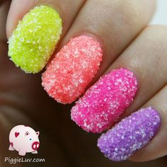 Sugar crush nails! Just dip wet nails in sugar and voilà!