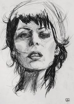 I really like this charcoal drawing. It is very realistic, but still has aspects of whimsy and creative freedom. The woman in the picture looks weathered, and I really appreciate the lines.