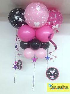 Globos, Flores y Fiestas Balloon Ceiling, Balloon Columns, Ceiling Decor, Balloon Arch, Office Birthday, 1st Birthday Girls, Birthday Parties, Balloon Decorations, Birthday Decorations