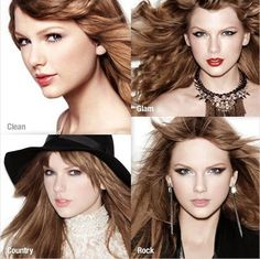 Taylor Swift showcases four different looks in new CoverGirl commercial