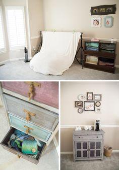 In home newborn photography studio