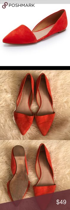 Madewell D'Orsay Flats Suede. EUC, with minor signs of wear. Madewell Shoes Flats & Loafers