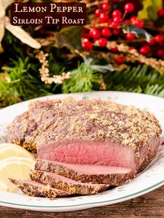 Lemon Pepper Sirloin Tip Roast is an easy to make recipe with only 4 ingredients. Delight your family with this peppery citrusy beef roast.