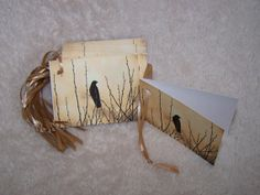 Black Crow Gift Tags  Mini Cards by Marie by mariesimagination, $10.00