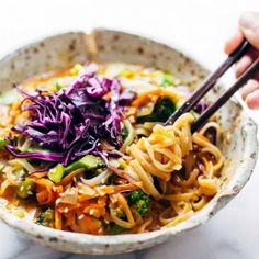 Looking for Fast & Easy Asian Recipes, Main Dish Recipes! Recipechart has over free recipes for you to browse. Find more recipes like Bangkok Coconut Curry Noodle Bowls. Think Food, I Love Food, Whole Food Recipes, Dinner Recipes, Cooking Recipes, Dinner Ideas, Curry Noodles, Rice Noodles, Zuchinni Noodles