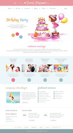Event Planner WordPress Themes by Delta