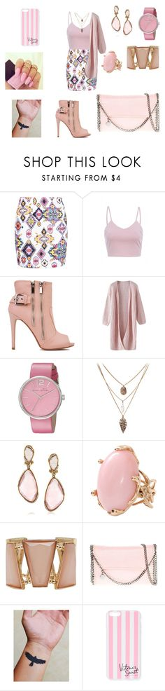 """SHADES OF PINK"" by lucieprettyliars ❤ liked on Polyvore featuring Boohoo, AX Paris, Marc by Marc Jacobs, Mark Broumand, Lucifer Vir Honestus, M&Co, STELLA McCARTNEY and Victoria's Secret"