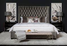 Stunning Small Master Bedroom Design Ideas - Page 45 of 61 Glam Bedroom, Room Ideas Bedroom, Home Decor Bedroom, Bedroom Furniture, Diy Bedroom, Dark Romantic Bedroom, Bedroom Black, Decor Room, Child's Room