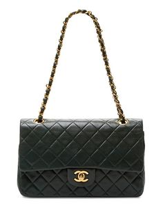Green Quilted Lambskin Medium Classic 2.55 Double Flap Bag