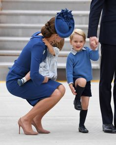 Wills and Kate and George and Charlotte in Canada