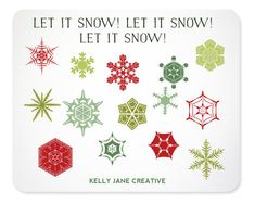 Christmas Snowflake Clipart  - Instant Download Includes PNG and EPS files