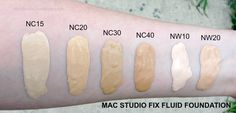 MAC Studio Fix Fluid Foundation #foundation #maccosmetics #studiofixfluidfoundation #makeup #makeupswatches #swatch Check out my blog at http://www.noirblisse.com