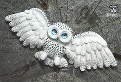 Готовенько)) #snorky #polymerclay #polymer_clay #handmade #owl#owls#snowyowl #whiteowl #blueeyes #white#полимернаяглина #полимерная_глина #ручнаяработа #сова#совы#полярнаясова #белаясова #голубыеглаза