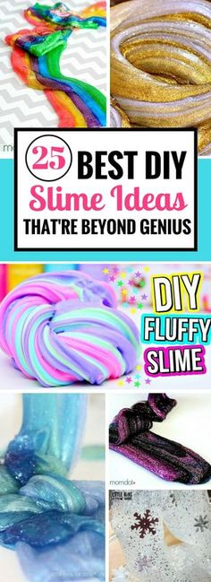 Easy and awesome diy slime recipe ideas that are loads of fun! So glad to have found these epic slime recipes. I CAN'T stop playing with it.