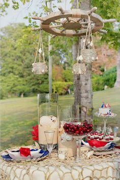 nautical wedding – table decor a vitorlázás szerelmeseinek