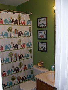 Children S Art Print Kids Room Decor Elephant Bath 8x10 Personalized Inspired Target Circo Showe