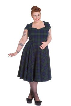 online shopping for Hell Bunny Vintage Inspired Ireland Love Dublin Tartan Flare Dress from top store. See new offer for Hell Bunny Vintage Inspired Ireland Love Dublin Tartan Flare Dress Wedding Dresses Dublin, Vintage Inspired Wedding Dresses, Vintage 1950s Dresses, Cheap Wedding Dress, Vintage Clothing, Jackie Kennedy, Party Fashion, Retro Fashion, Long Petticoat
